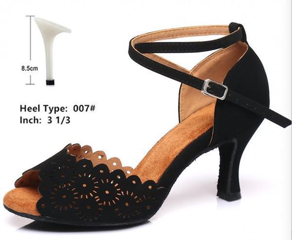 Черный 8.5cm каблук