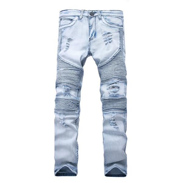 best selling Represent clothing pants slp blue black destroyed mens slim denim straight biker skinny jeans men ripped jeans
