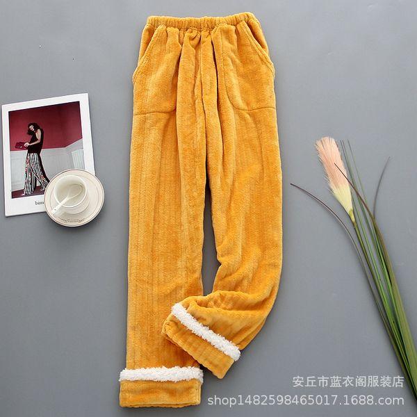 Zerdeçal ile dikişli kaşmir pantolon