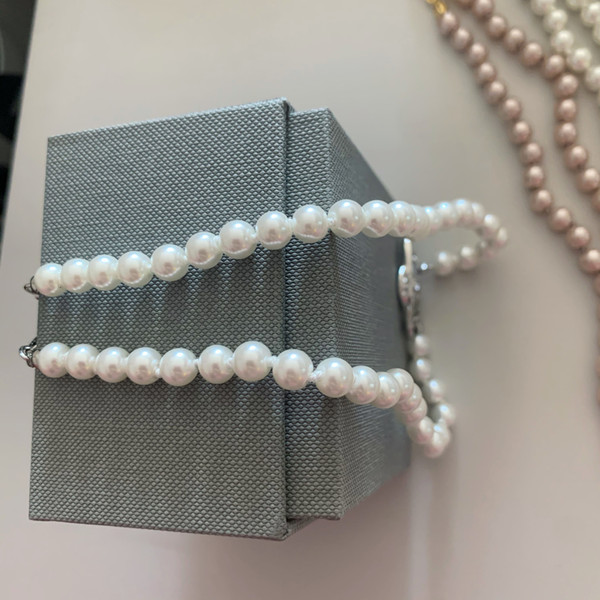 top popular 2020 New Fashionable female necklace brand Hot Pearl Chain Planet Necklace Saturn Pearl Necklace Satellite Clavicle Chain Punk Atmosphere 2021