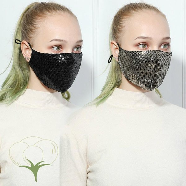 Bling Bling Cotton Maske zufällige Farbe