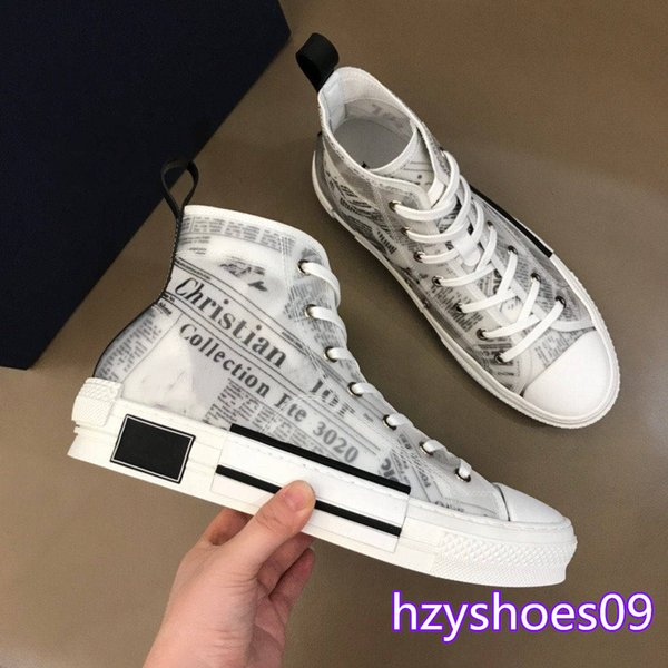 best selling Best quality B23 Oblique designer mens shoes womens High-top Sneakers Flowers Obliques Tess Technical Leather 19SS Trainer Sneakers boots