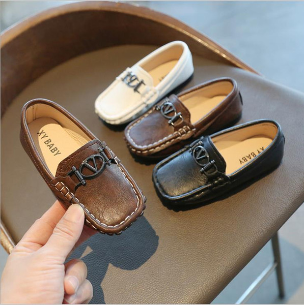 best selling Kids Shoes Soft PU Leather Toddler Loafers Baby Boy Shoes Classic Style Slip-on Boys Shoes Size 21-30 Spring Autumn