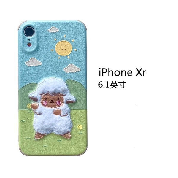 Iphone Xr Embroidery Grassland Sheep