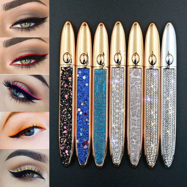 best selling Self-adhesive Eyeliner Pen Glue-free for False Eye lashes Waterproof No Blooming Colorful Eye Liner Pencil