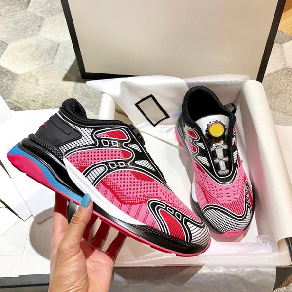 Designer Ultrapace R Sneaker Reflective Triple S Sneakers Men Women Rubber Sock Shoes Knit Fabric Mesh Trainers Stripe Runner Shoes
