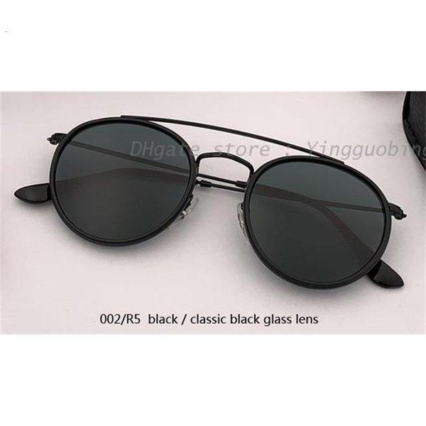 002 / R5 preto / clássico lente negra