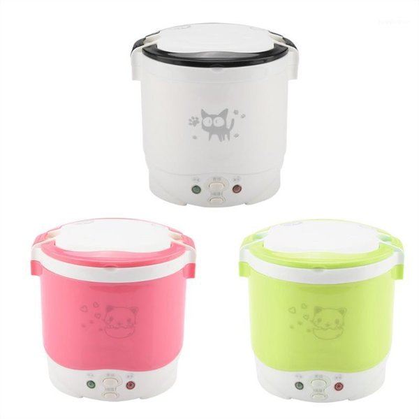 top popular 1L Multi-use Electric Skillet Mini Portable Hot Pot Noodles Rice Cooker with Non-stick Rice Cooker White1 2021
