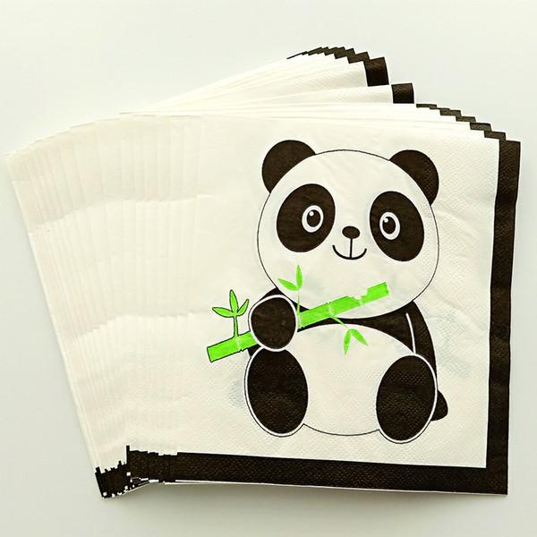 top popular people cute lovely Panda Tableware Set Children 20 happy Birthday kids baby boy girl 1st shower Party Supplies 2021