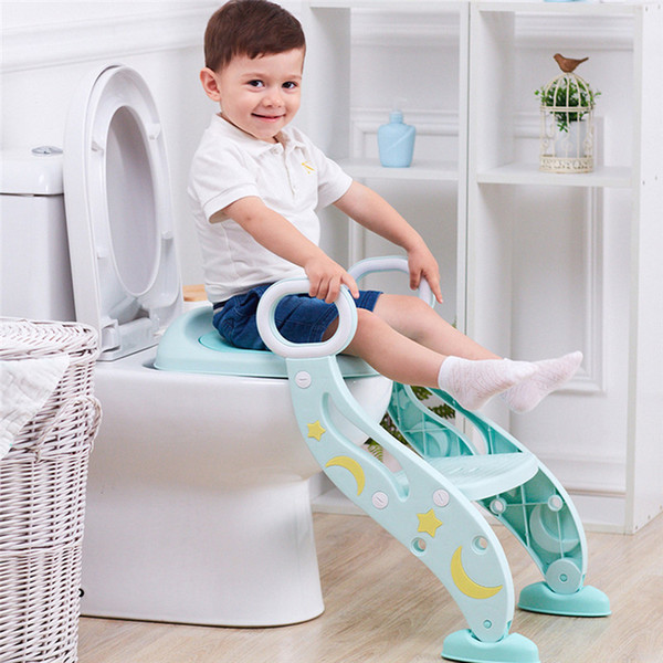 best selling Child potty Baby Child Potty Toilet Trainer Seat Step Stool Ladder Adjustable Training Chair # LJ201110