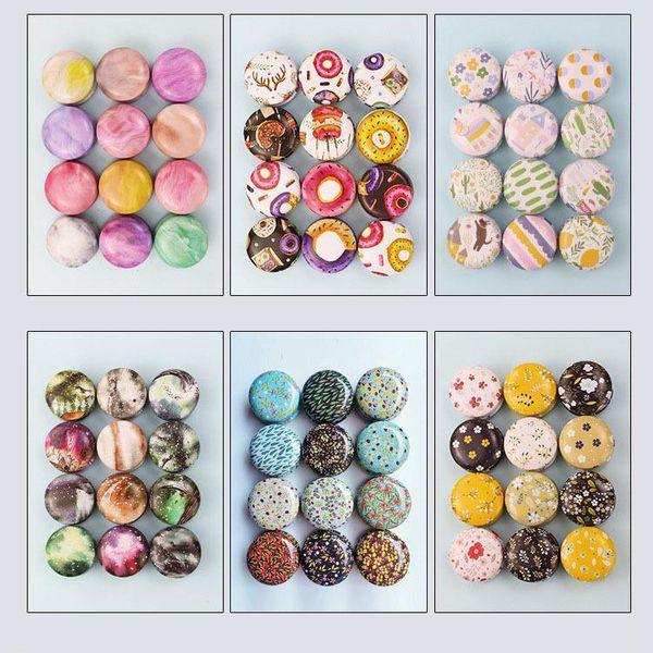 top popular Tinplate Candle Jar Empty Tin Can Donut Metal DIY Handmade Aroma Candle Mini Box with Lid Small Home Decor 2021
