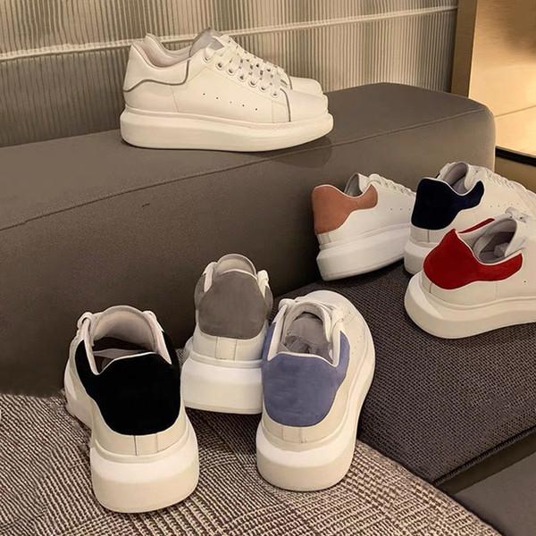 top popular 2021 designer men women white mens womens shoes espadrilles flats platform oversized shoes espadrille flat sneakers with box size 36-45 2021