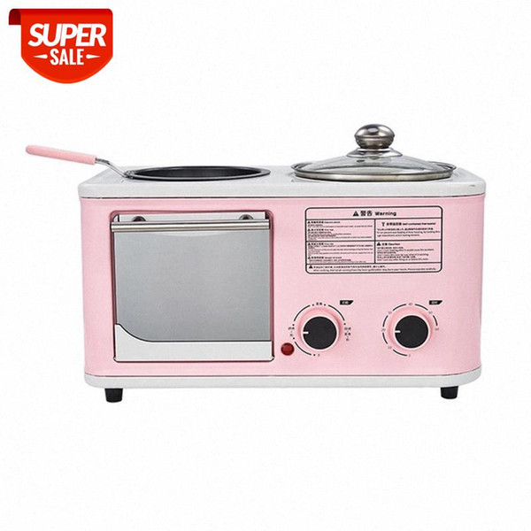 best selling Electric 3 in 1 Household Breakfast machine mini bread toaster baking oven omelette fry pan hot pot boiler food steamer EU #3D2O