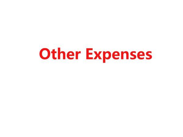 autres dépenses