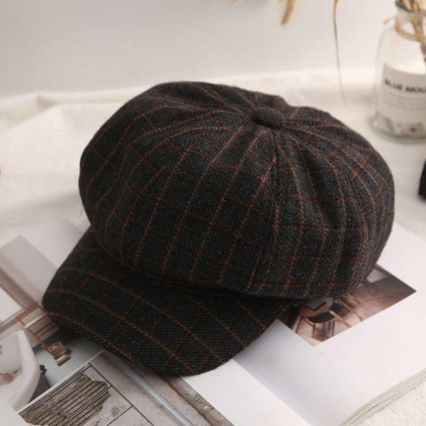 Boina de tela escocesa - Negro