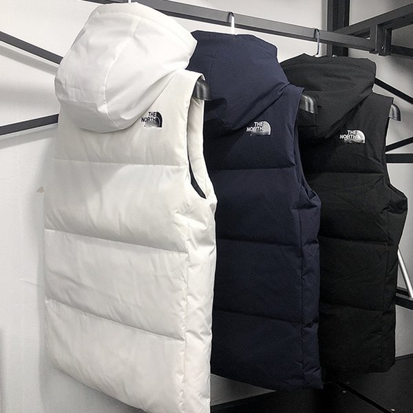 best selling NEW Brand Designer vest Men's women winter down vest Hooded Classic feather weskit jackets womens casual vests coat M-3XL