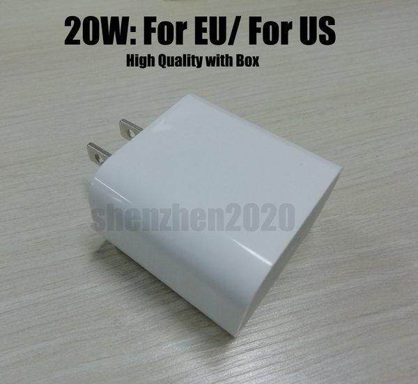 top popular DHL USB Wall Charger 18W 20W Power Adapter Quick Charger USB to TYPE C Charger US EU Plug Fast Charging for Smartphone 2020