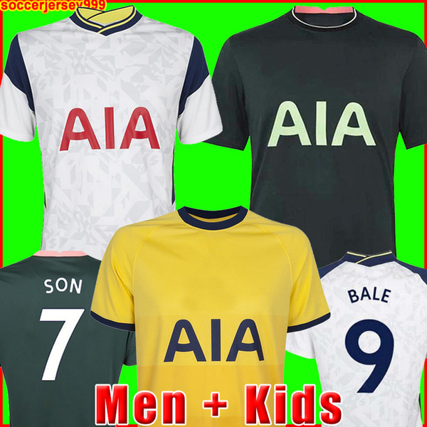 best selling 20 21 DELE SON TOTTENHAM BALE KANE soccer jersey HOJBJERG BERGWIJN LO CELSO SPURS 2020 2021 LUCAS football shirts uniforms men + kids kit