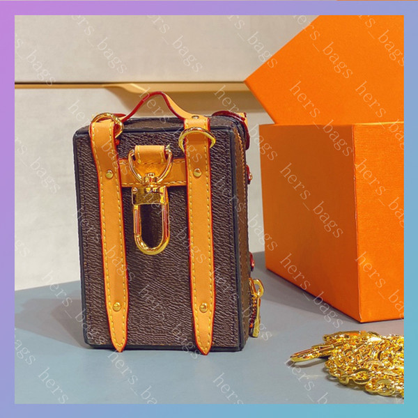 Women Luxurys Designers Bags 2020 Mens Wallet Men Credit Card Holder Coin Purse Key Pouch Wallets With Flower Trunk Shape With Box hiphop