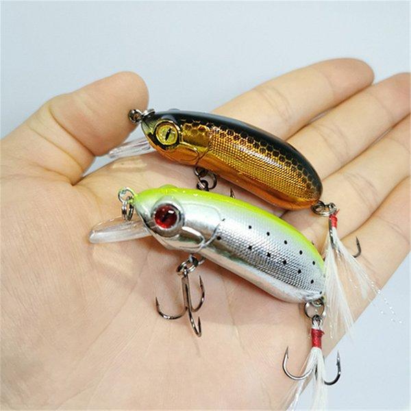 Lures 1PCS Fishing Minnow Swim Fish Bait Artificial Hard Bait10g/62mm 3D eyes Crankbait Floating Wobbler jig Top Water Fishing gear