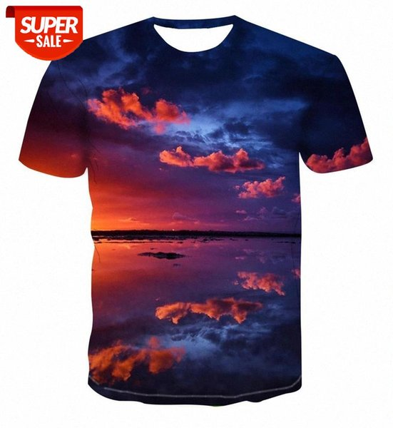 top popular 2020 hot sale 3D t-shirt men's creative fashion landscape color map cartoon character summer short sleeve printed top xxs-6xl #yY5U 2021