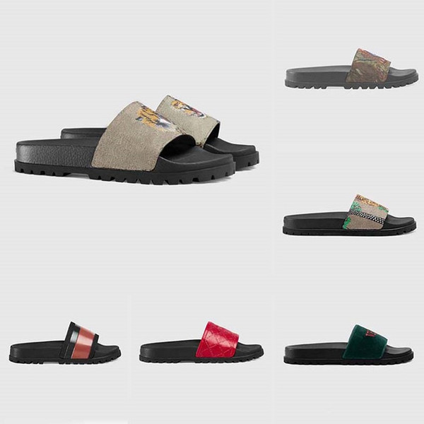 best selling Fast High Quality Slides Sandals Man Woman Slipper Gear bottoms Flip Flops With Box Casual Shoes Sneakers Espadrilles Heel home011 01