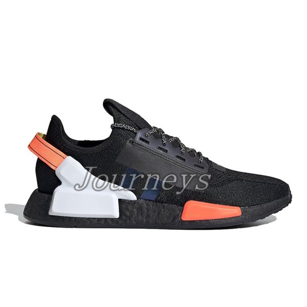 14.black White Blue Orange