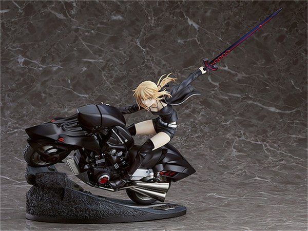 best selling Anime Fate Grand Order Saber Alter Altria Pendragon with Motorcycle 1 8 Scale Painted PVC Action Figure Model Kids Toys Doll X0121