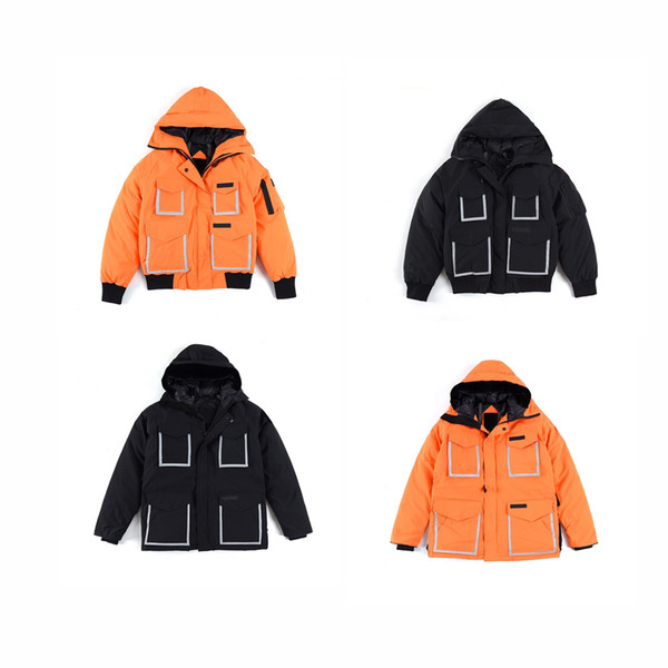 best selling Top-end high quality hooded Joint Limited edition bomber down jacket canada Casual Down Jacket Coats MOV thickened winter jacket windproof