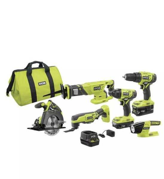 best selling Power Tool Combo Kits 18-Volt Lithium-Ion Batteries Charger Bag (6-Tool)