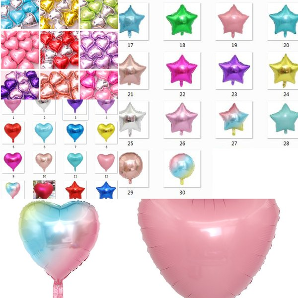 top popular 18 30 styles inch birthday decorative balloon Aluminum Film Balloons Kids adult Helium Balloon Party Wedding Decorations Supplies toys 2021