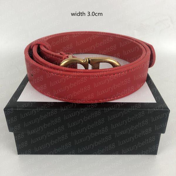 Bronze buckle + Red
