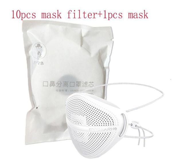 Masque blanc + 10 pcs Filtres
