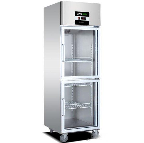 top popular Commercial 246-door vertical air-cooled refrigerator kitchen freezer glass door freezer refrigerator catering fresh cabinet 2~8 (C) 2020