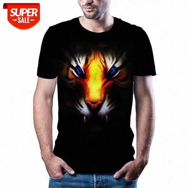 top popular 2020 latest hot sale tiger head T-shirt casual sports Harajuku T-shirt Asian size code shipping color printed 3DT shirt #vy7f 2021