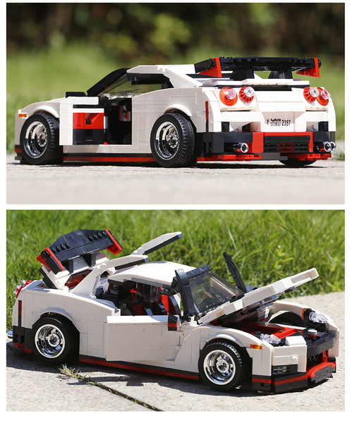 top popular New here, this is the idea of a creative brick series, Leping convertible MOC technology sports car, construction brick, children's 2021