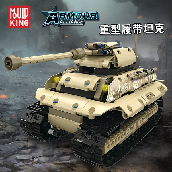 top popular YX Military Tank Building Blocks, DIY Electric 2.4G RC Developmental Toys, Multiplayer Interaction, for Kid' Birthday' Party Christmas Gifts 2020