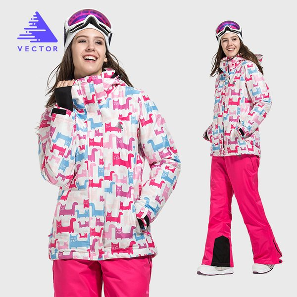 top popular Outdoor Sports Ski Women's Suit Snow Clothing Warm Breathable Wear-Resistant Women's Ski Snowboarding Set 201203 2021