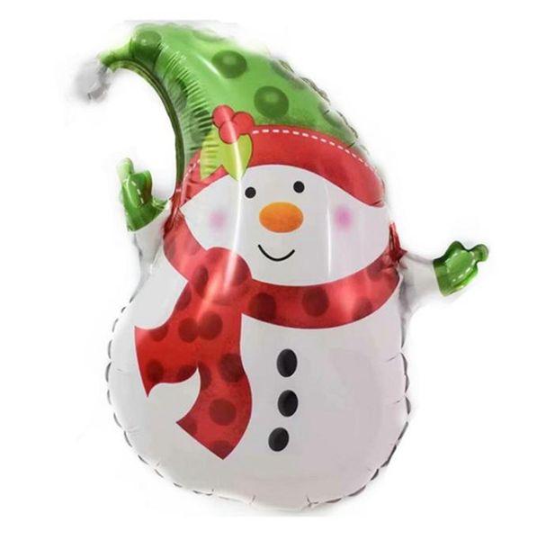 best selling Christmas Foil Balloons Mini Xmas Tree Balloon Party Decorative Balloon Kids Toys New Year Decor Snowman Santa 15 Designs DW6024