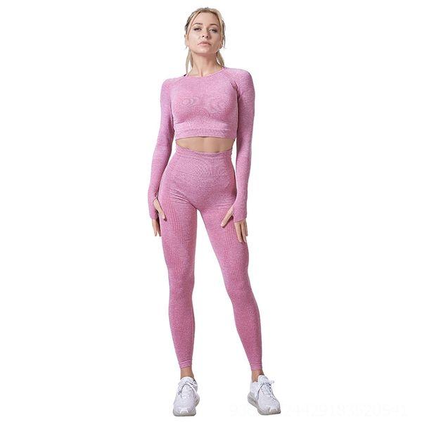 Розовые штаны с длинными рукавами