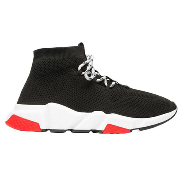 Lace Up Black Red 36-45