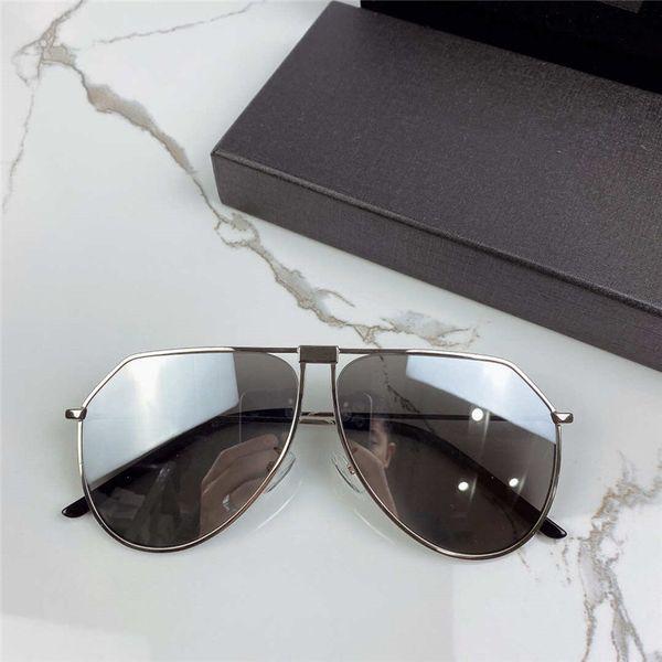 Lente a specchio argento cornice argento