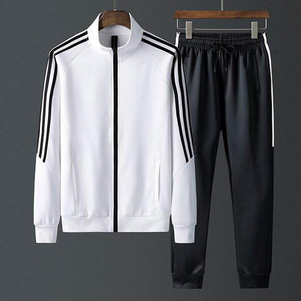 best selling Chinese size Sportswear Tracksuits Men Sets Polyester Sweatshirt Sporting Fleece 2019 Gyms Clothing 2PCS Jacket+Pants Casual Men's Track Sui