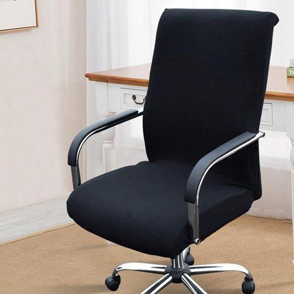 cubierta de silla negra