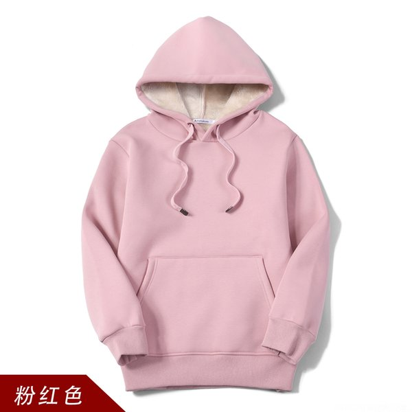 Wy202 Cashmere Hooded Pink Sweater