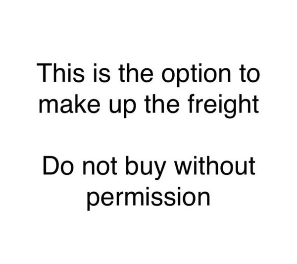Make up freight