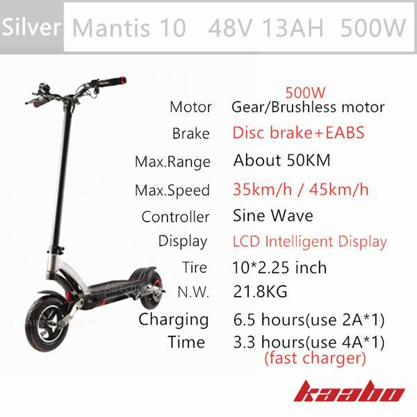 M10 48V 500W Silver