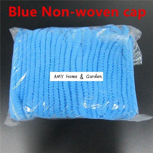Blue Non woven caps