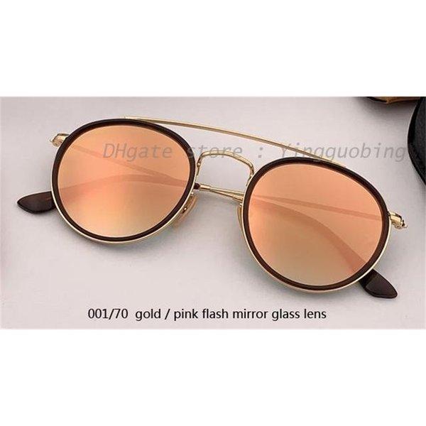 001/70 ouro / rosa lente de espelho