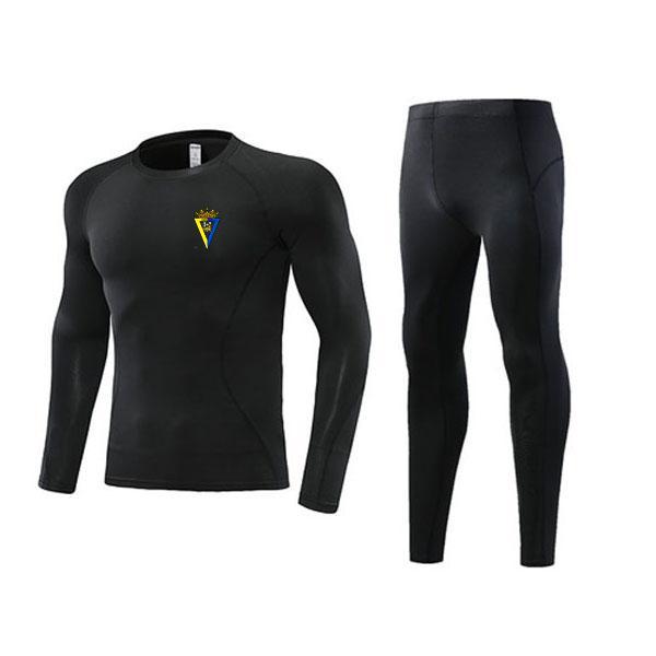 best selling Newest Cádiz Club de Fútbol, S.A.D Tight Soccer Outdoor Tracksuits Kids Clothing Size22 Men's Athletic Sets Adult Football Warm Suit Size L